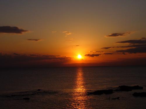 佐島の夕陽です