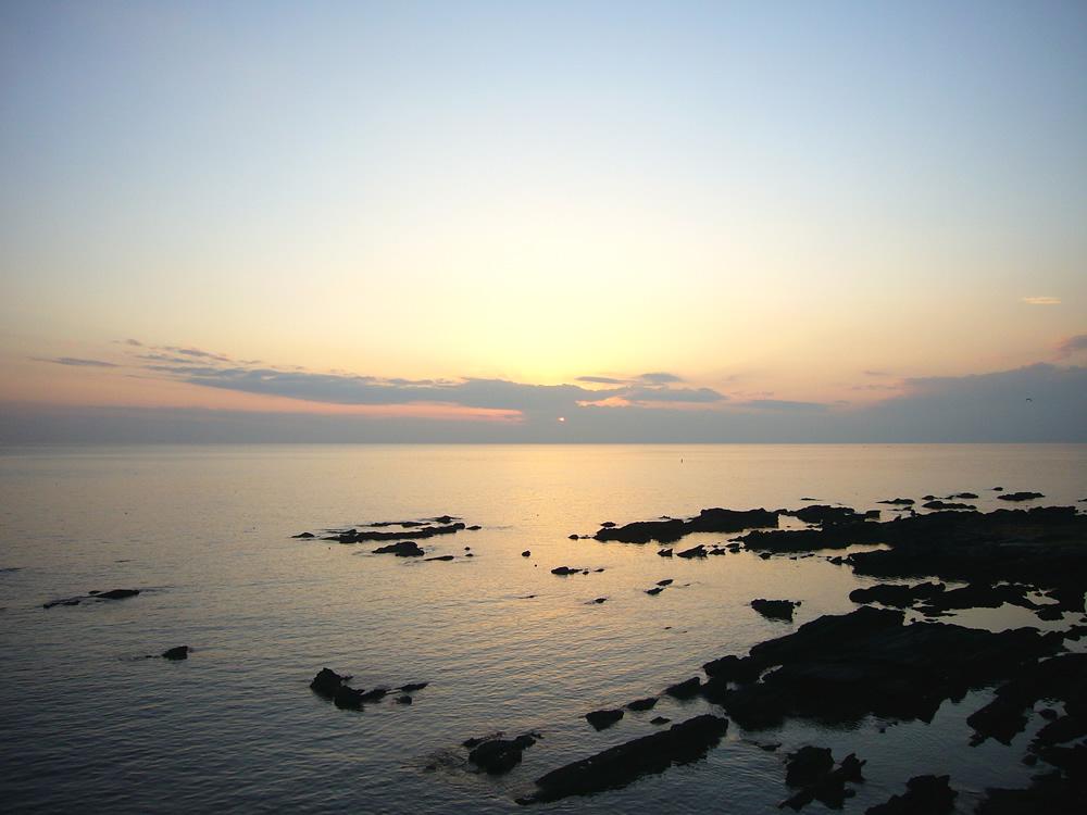 佐島から見える夕陽