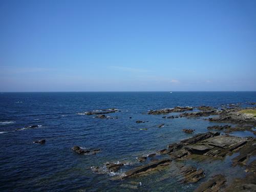 プールから見える海の風景