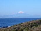 富士山の頭が段々白くなってきました