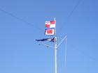 国際信号旗でお出迎え