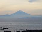 墨絵のような富士山です