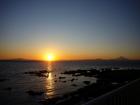 相模湾の夕陽
